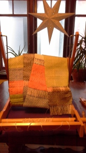 These are hot off the loom and will transform with finishing into lovely little mats.